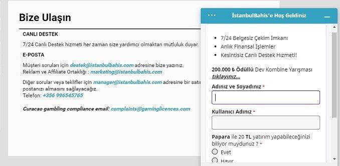 istanbulBahis canli destek