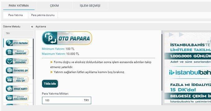 İstanbulBahis Ödeme Yöntemleri
